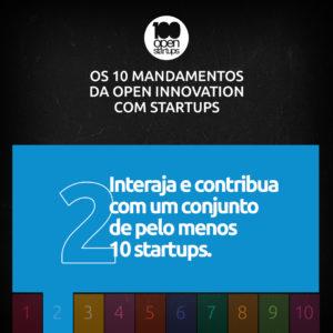Mandamento 02: Interaja e contribua com um conjunto de pelo menos dez startups