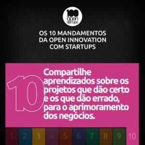 Mandamento 10: Compartilhe aprendizados sobre os projetos que dão certo e os que dão errado, para o aprimoramento dos negócios