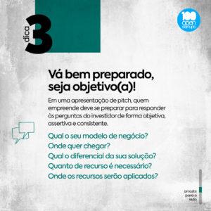 #Dica 03: Vá bem preparado, seja objetivo(a)!